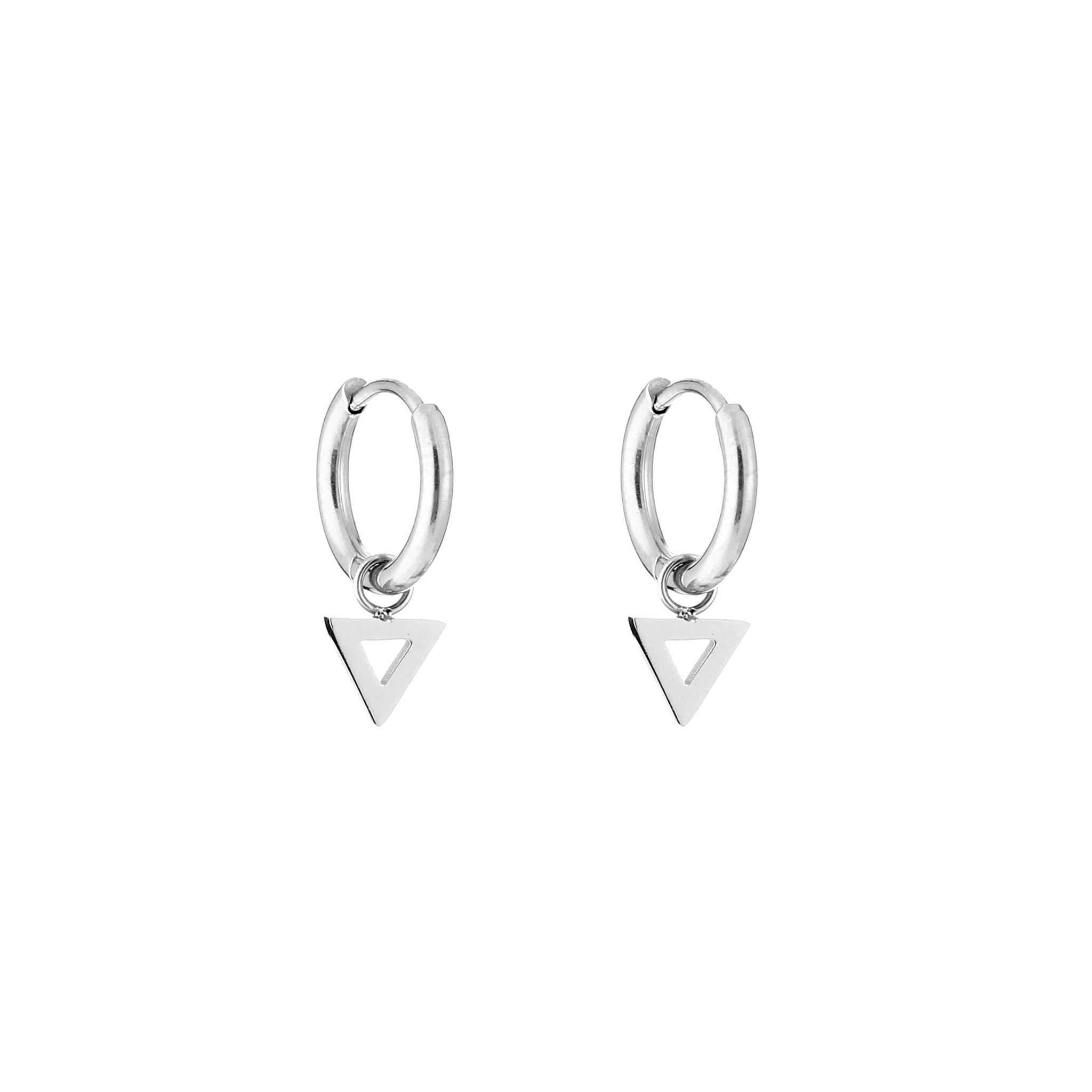 Open Triangle Hoop Earrings