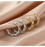 Hoop Earrings Chunky Chain Links