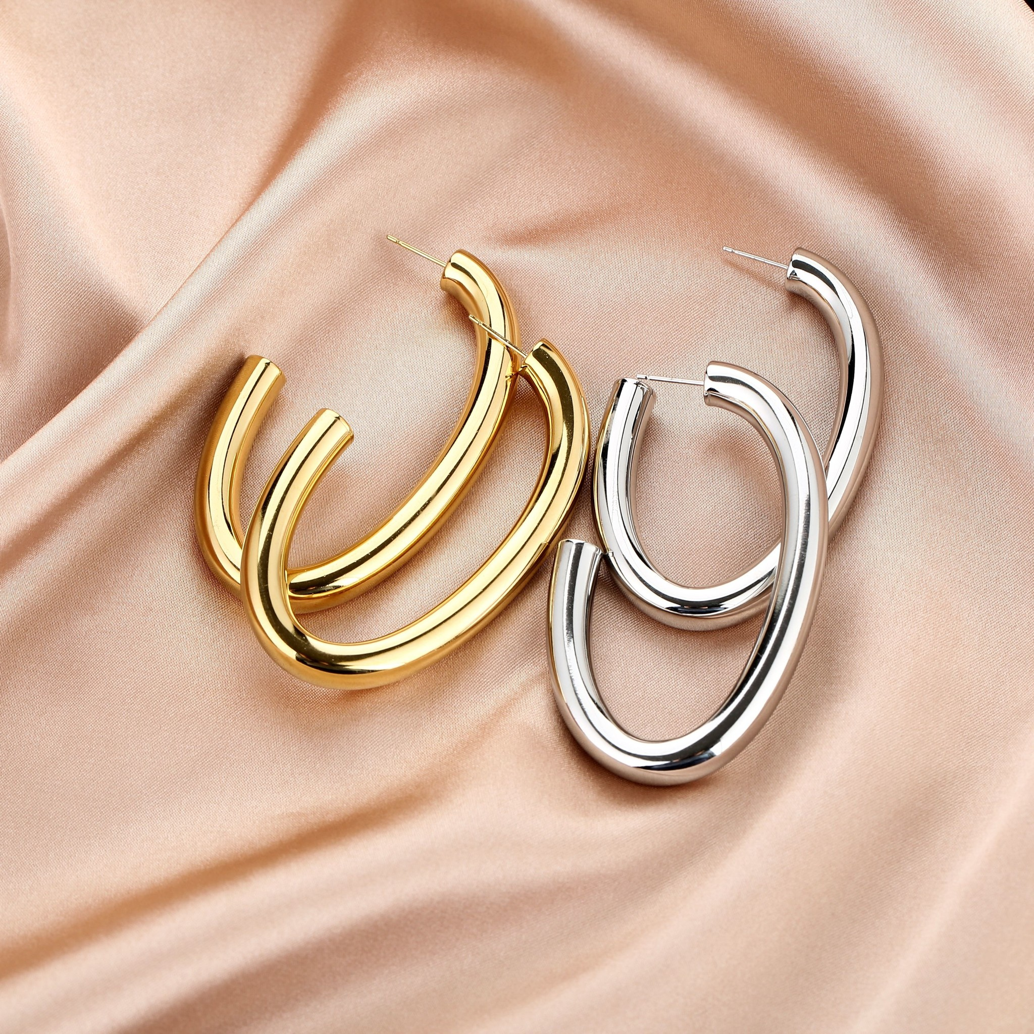 Stainless Steel Statement Earrings