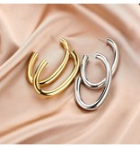 Gold Stainless Steel Statement Earrings
