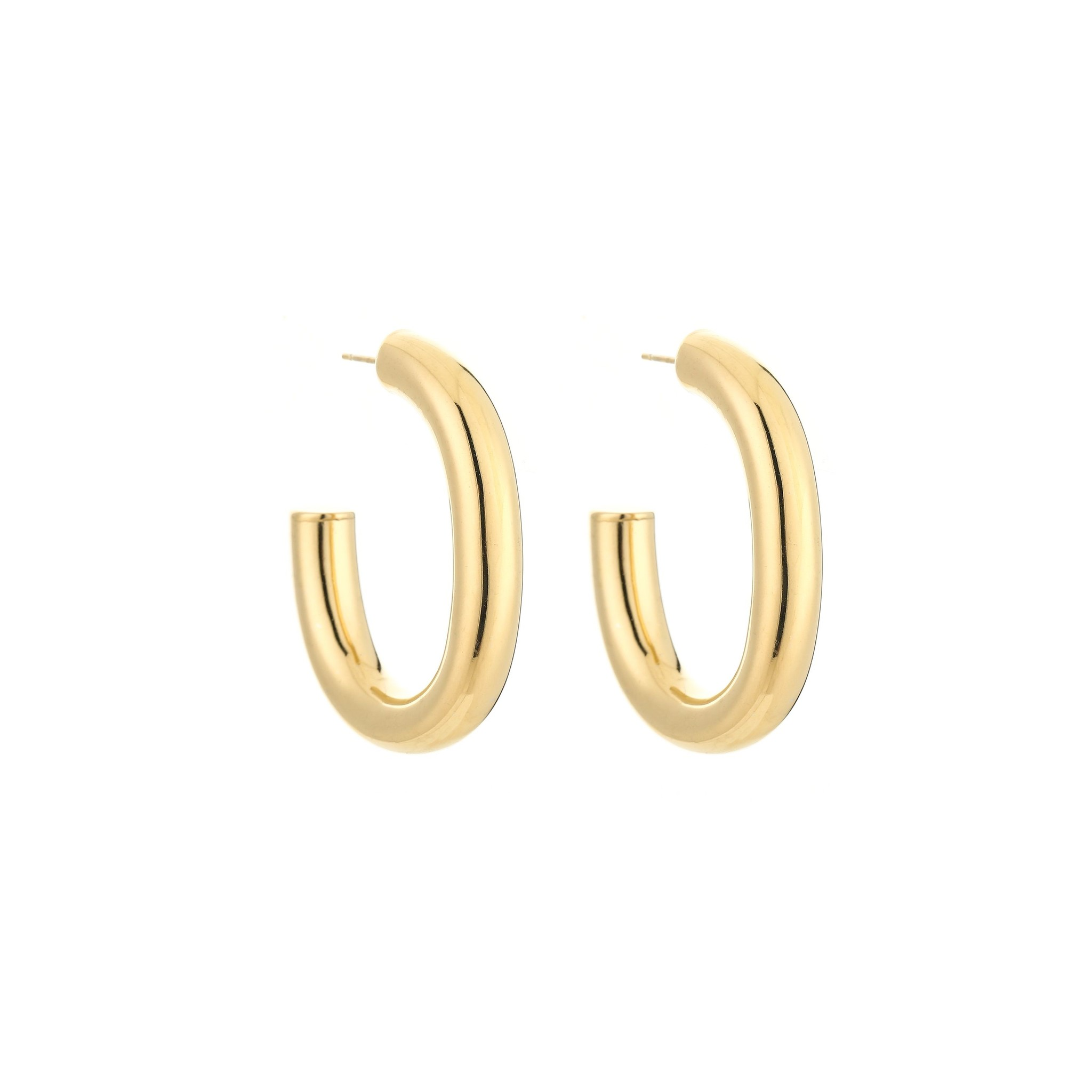 Stainless Steel Statement Earrings Small