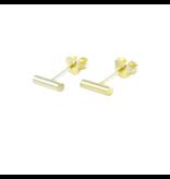 LAVI Gold Plated Bar Ear Studs
