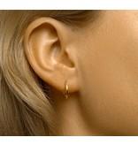Gold Plated Stud Hoop Earrings