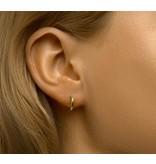Mini Gold Plated Stud Hoop Earrings