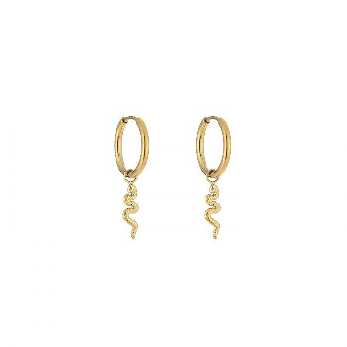 Snake Hoop earrings Goldplated