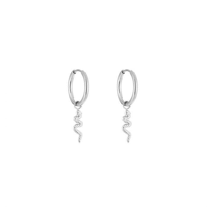 Snake Hoop earrings Stainless Steel