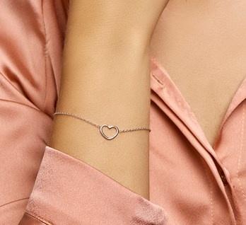 Armband Hart Echt Zilver