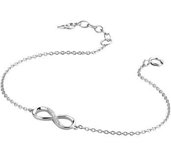 LAVI Infinity Bracelet Silver and Zirconia