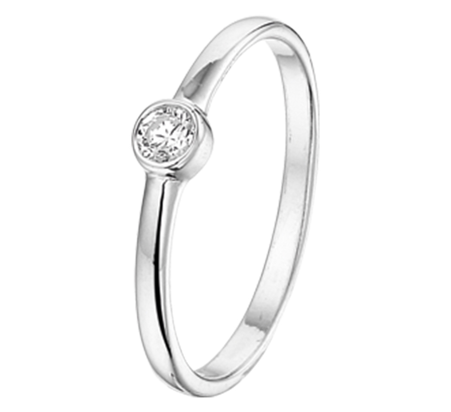 LAVI Zilveren Ring - Zirkonia