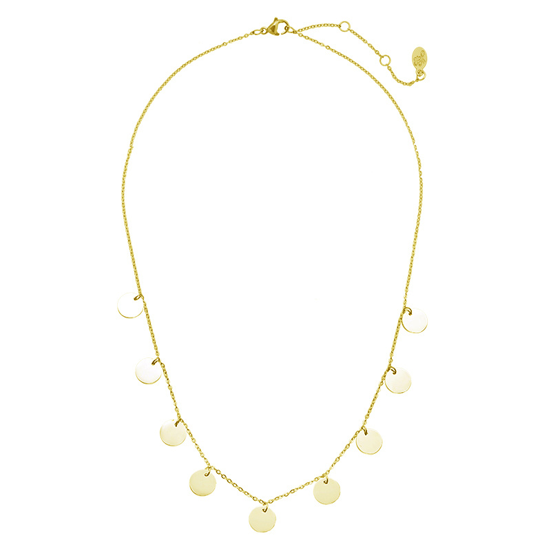 Gold Coin Necklace - Only Circles
