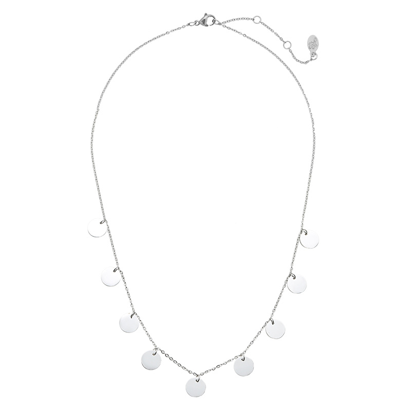 Coin Necklace Stainless Steel - Only Circles