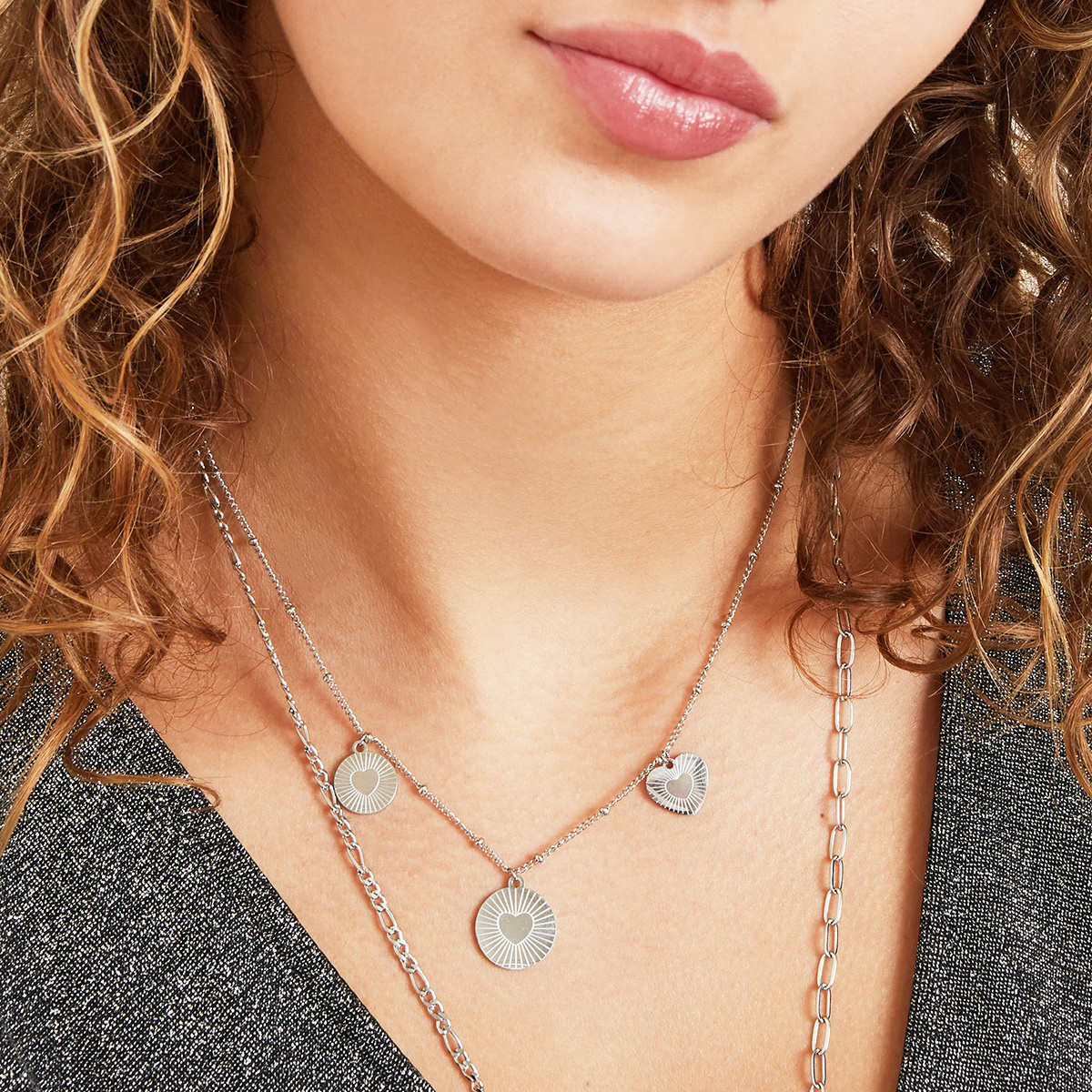 Stainless Steel Heart Necklace - Locked in Love