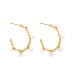 Pearly Hoops Stainless Steel