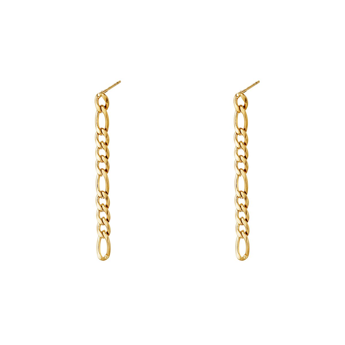 Vertical Gold Stainless Steel