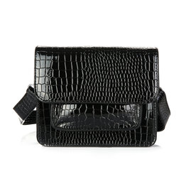 Black Shoulder Bag Croco