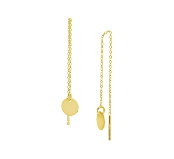 Gold Plated Pull Through Earrings