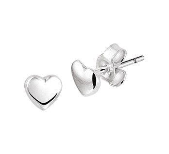 Heart Ear Studs 925 Silver