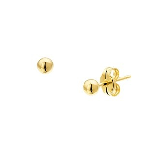 LAVI Sterling Silver Gold Plated Ball Earrings