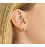 Gold plated Bar Ear Studs