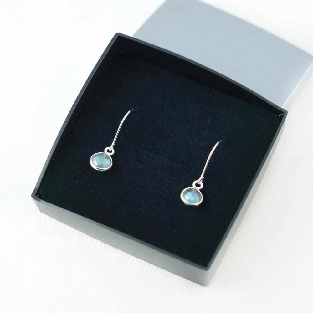LAVI Labradoriet Earrings - Sterling Silver