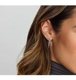 Stud Hoop Earrings Sterling Silver