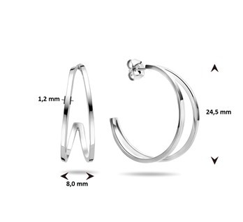 LAVI Sterling Silver Hoop Stud Earrings