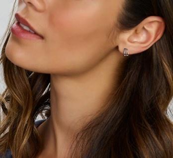 LAVI Hoop Stud earrings - 925 Silver