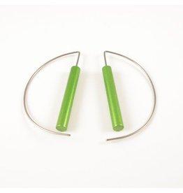 Moderne oorbellen - Groen