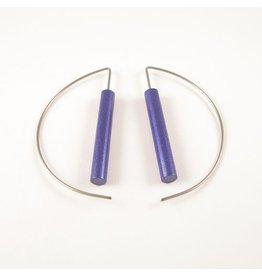 Moderne oorbellen - Blauw paars