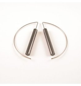 Modern Earrings Hard coal