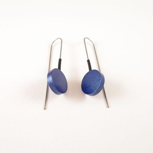 Moderne oorbellen Metalic Blauw