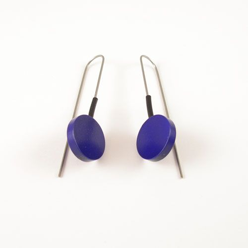 Moderne oorbellen Metalic paars