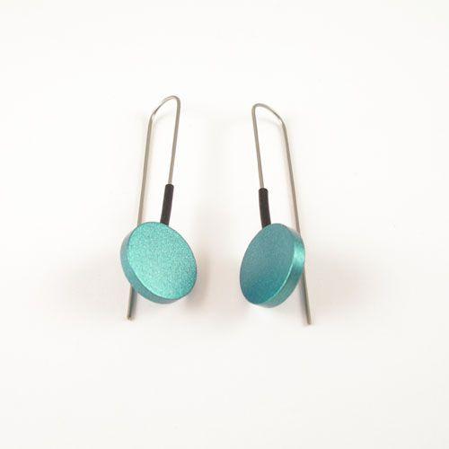 Moderne Turquoise oorbellen