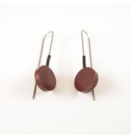 Modern Earrings Dark Brown