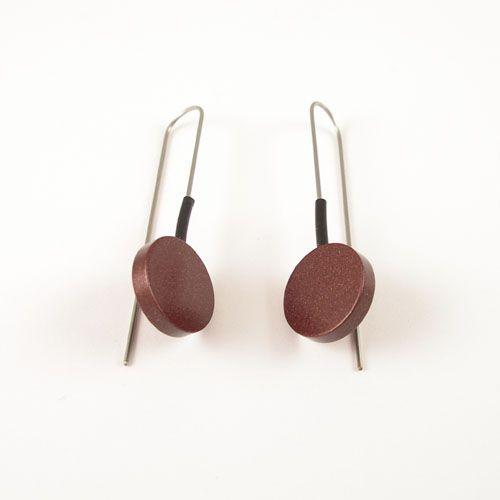 Moderne oorbellen Donker Bruin
