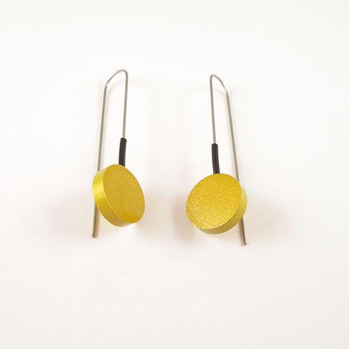 Moderne oorbellen Goud