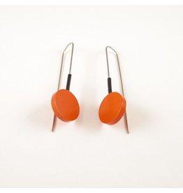 Moderne oorbellen Oranje