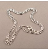 LAVI 70cm Zilveren Bolletjes ketting