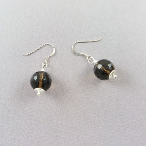 LAVI Smoky Quartz Earrings with Silver