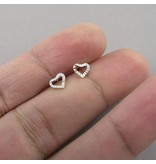 LAVI Silver Heart Ear Studs