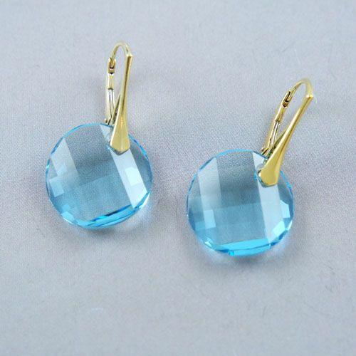 LAVI Light blue Swarovski Elements Earrings