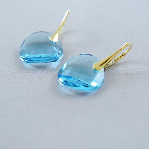LAVI Swarovski Elements oorbellen - Aquamarijn