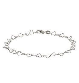 LAVI Hartjes Armband Zilver