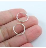 LAVI Silver Hoops Earrings 15mm