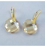 LAVI Swarovski Elements Earrings - Golden Shadow