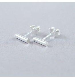 LAVI Sterling Silver Bar Stud Earrings
