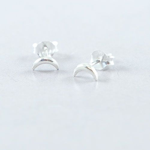 LAVI Sterling Silver Moon Ear Studs