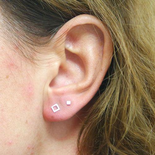 LAVI Open Square Ear Studs