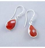LAVI Carnelian Earrings Silver
