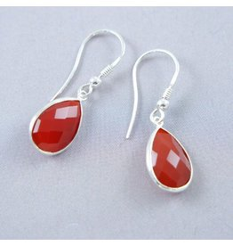 LAVI Carnelian Earrings Silver